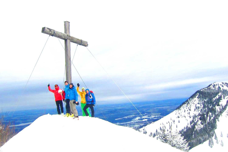 Alpine-Erlebnistage-Winter---Skitour-Feichteck-Gipfel