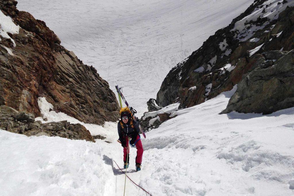 Haute-Route-Chamonix-Zermatt---Abseilstelle-Col-du-Chardonet