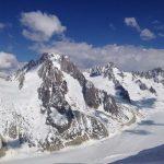 Haute-Route-Chamonix-Zermatt---Blick-auf-Argentiere-Gletscher-und-Anstieg-zum-Col-du-Chardonet
