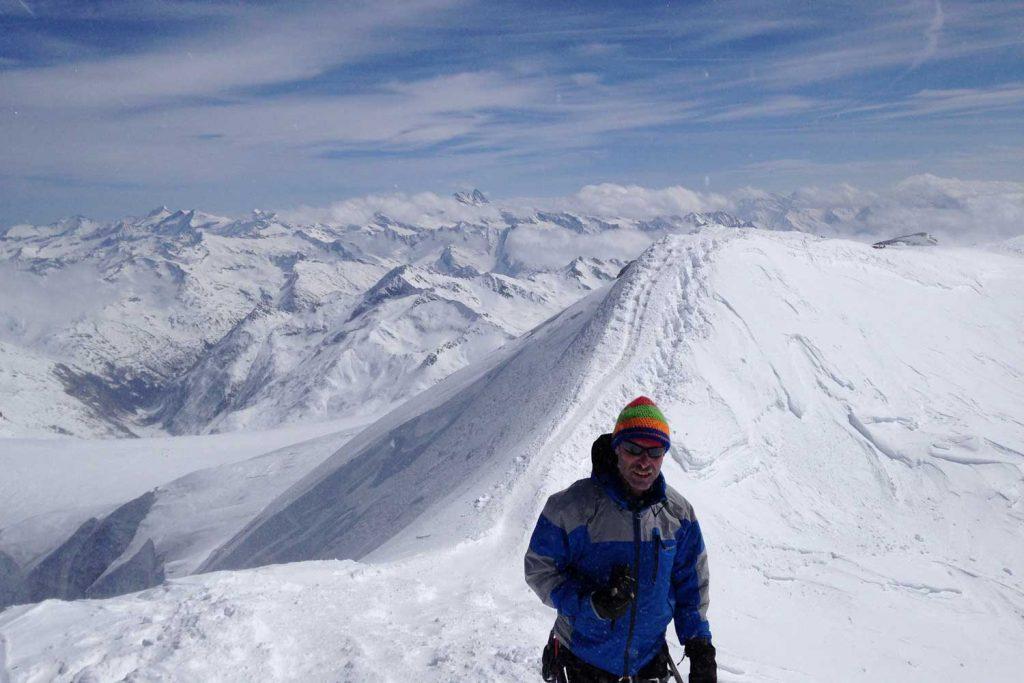 Skiroute-Hoch-Tirol---Großvenediger-Gipfelgrat