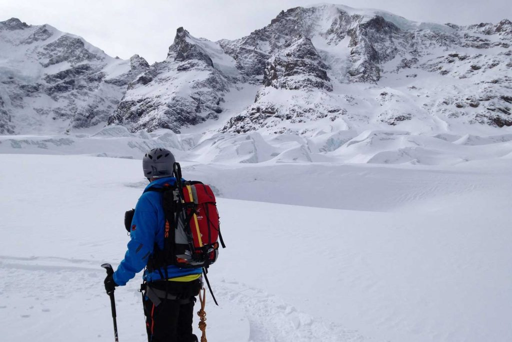 Skitour-Piz-Palü---Am-Morteratschgletscher