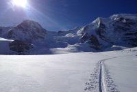 Skitour-Piz-Palü---Anstieg-am-Morteratschgletscher