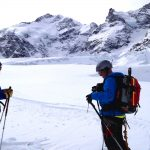Skitour-Piz-Palü---Morteratschgletscher-mit-Blick-zum-Labyrinth