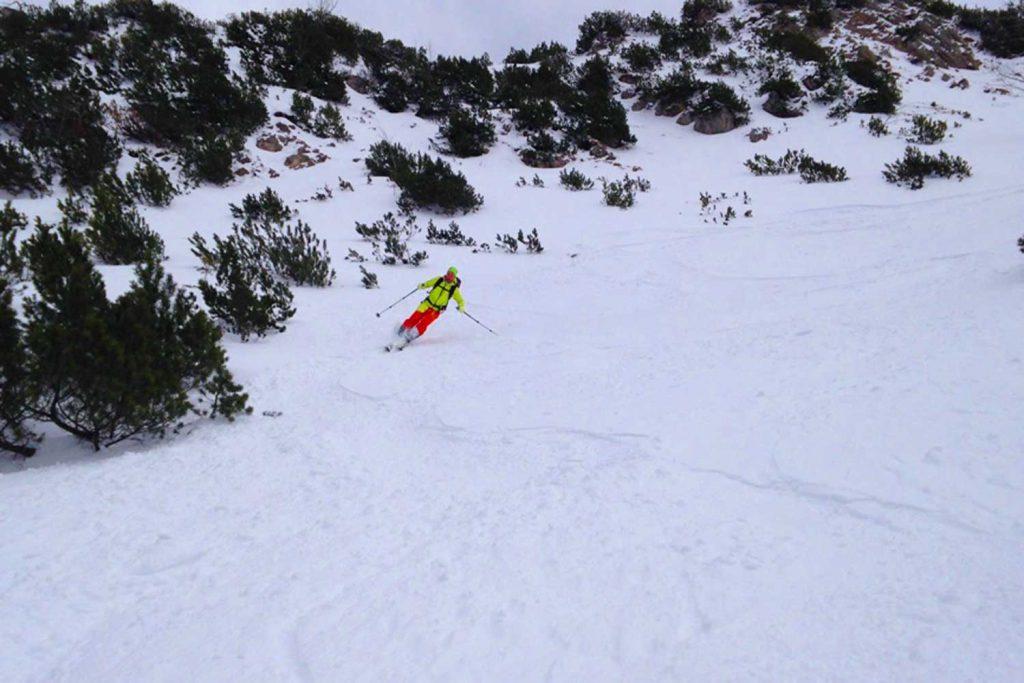 Skitour-für-Einsteiger-im-Wendelsteingebiet---Abfahrt-am-Großer-Thraiten