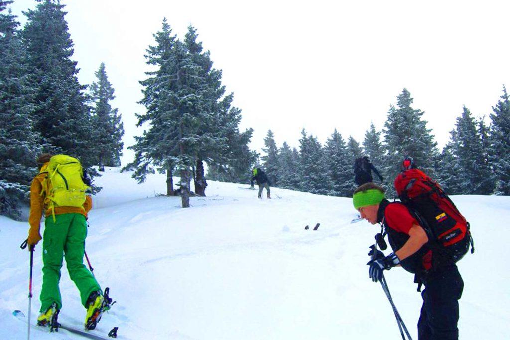 Skitour-für-Einsteiger-in-den-Chiemgauer---Spuranalage-im-Aufstieg