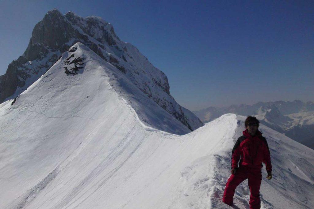 Skitouren-im-Lesachtal---Am-Gipfelgrat