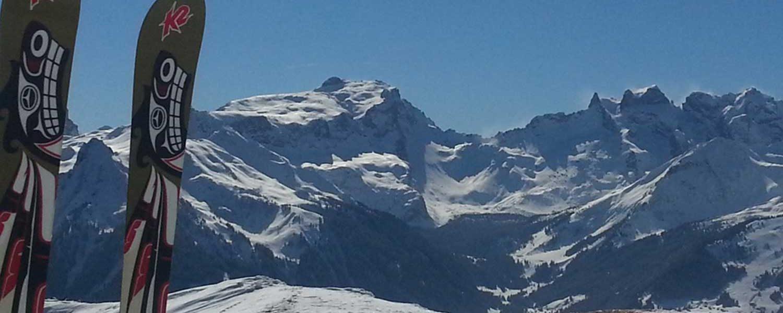 Skitouren-im-Montafon---St.-Bartholomäberg-mit-Blick-ins-Gauertal-mit-Drei-Türme-und-Sulzfluh