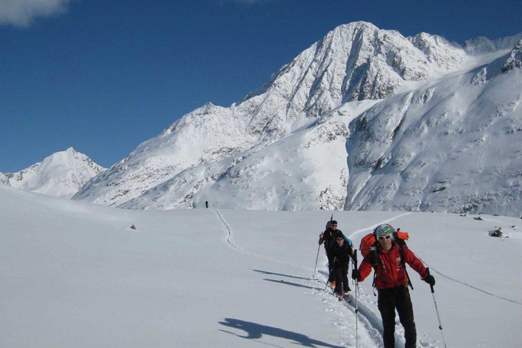 Skitourenkurs für Einsteiger - Aufstieg