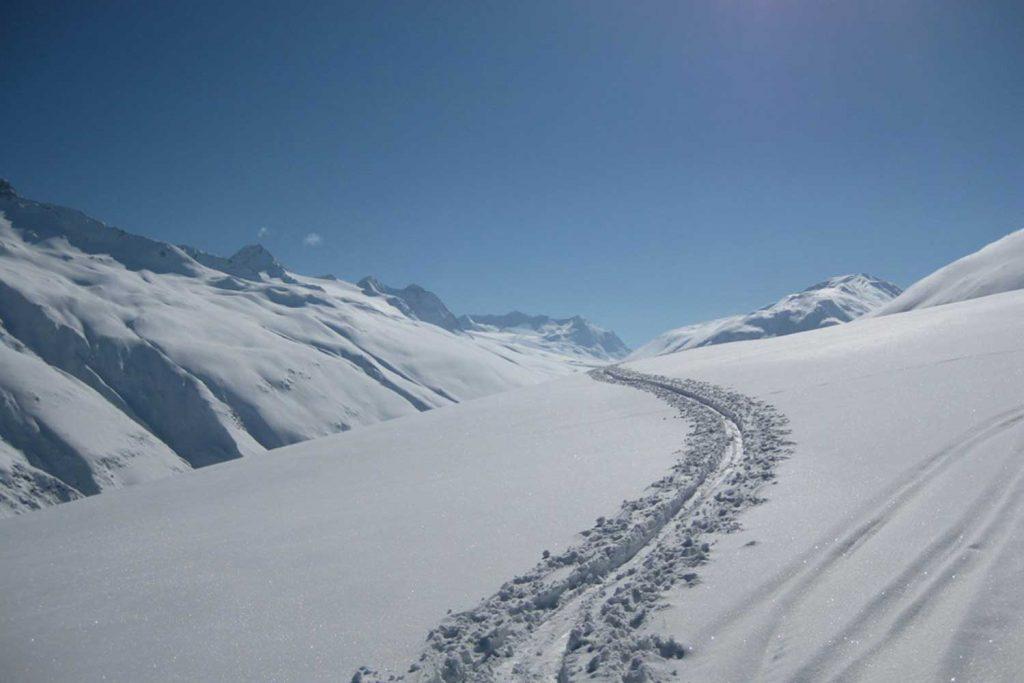 Skitourenkurs für Einsteiger - Spuranalage