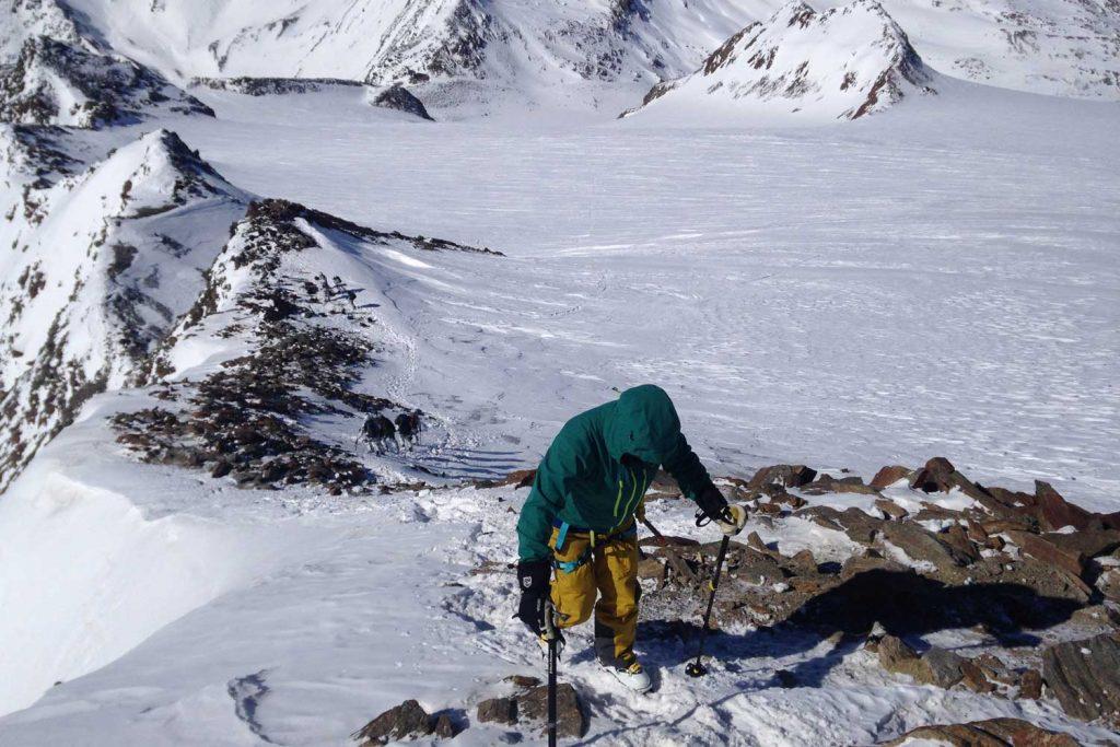 Venter-Runde----Anstieg-am-Gipfelgrat-zum-Similaun