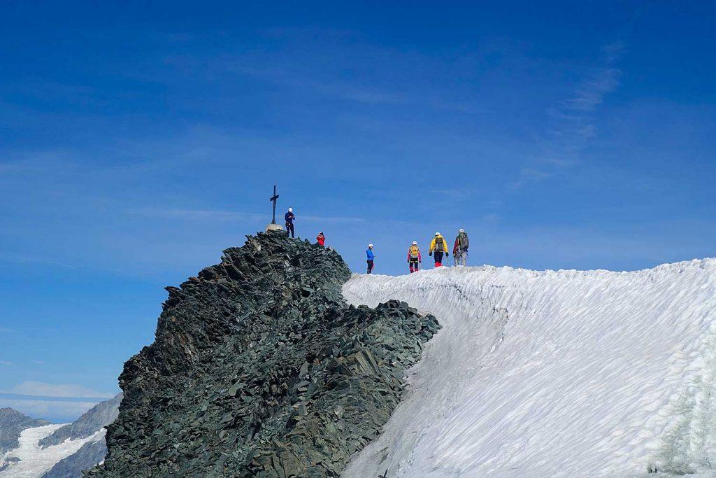 4000er-für-Einsteiger---Gipfelgrat-Allalinhorn