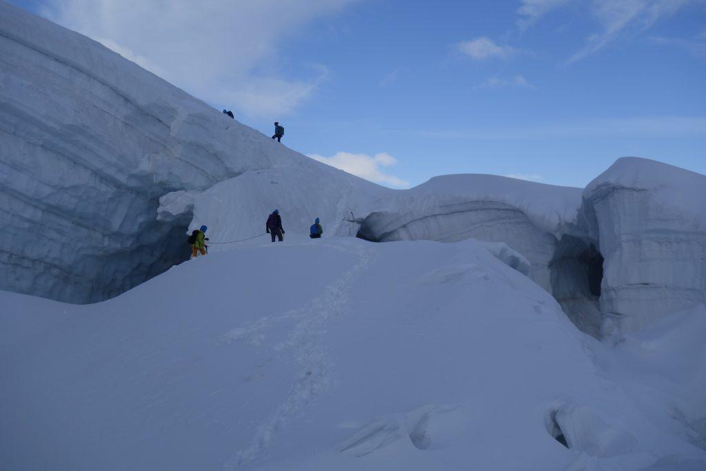 4000er für Einsteiger - Spalten am Weg zur Weissmiess