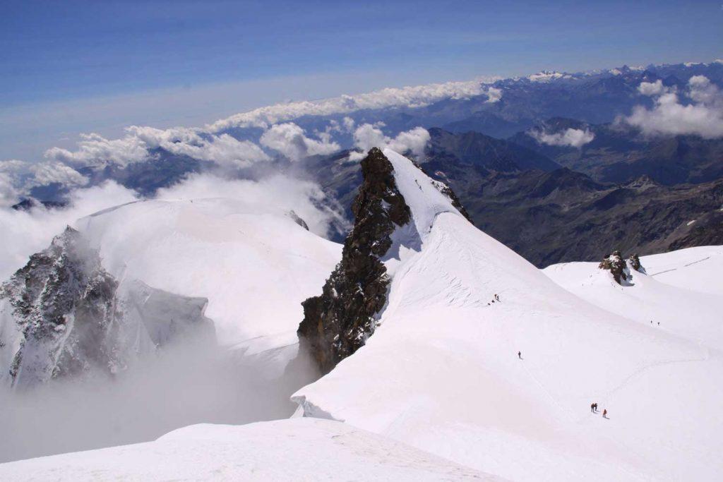 4000er im Wallis Monte Rosa Schwarzhorn
