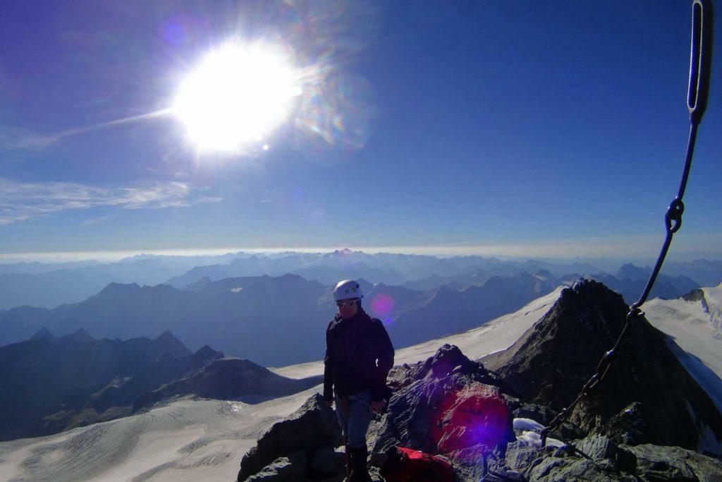Großglockner-Normalweg-Gipfelausblick