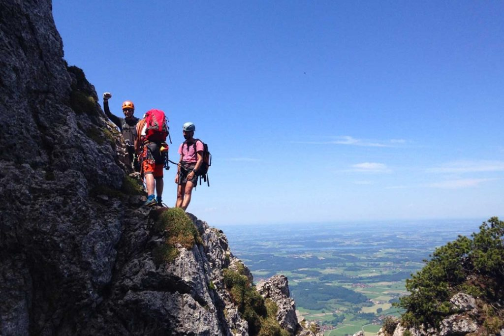 Klettern-an-der-Kampenwand---Teufelsturm