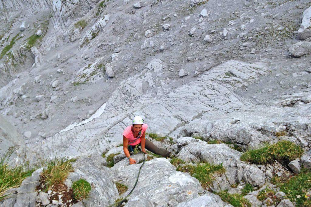Klettern-auf-den-Spuren-von-Hans-Dülfer---Fleischbank-Ostwand-Einsiegsseilängen