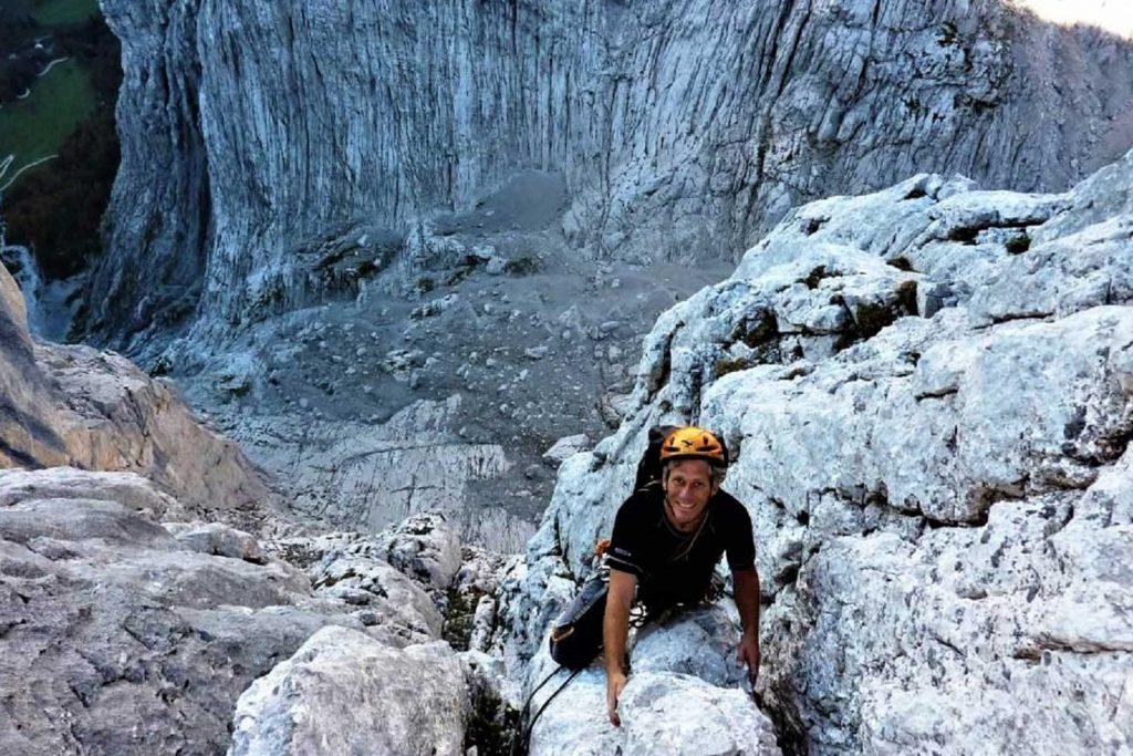 Klettern-im-Wilden-Kaiser---Dülferführe-Fleischbank-Ostwand-Ausstiegsrisse