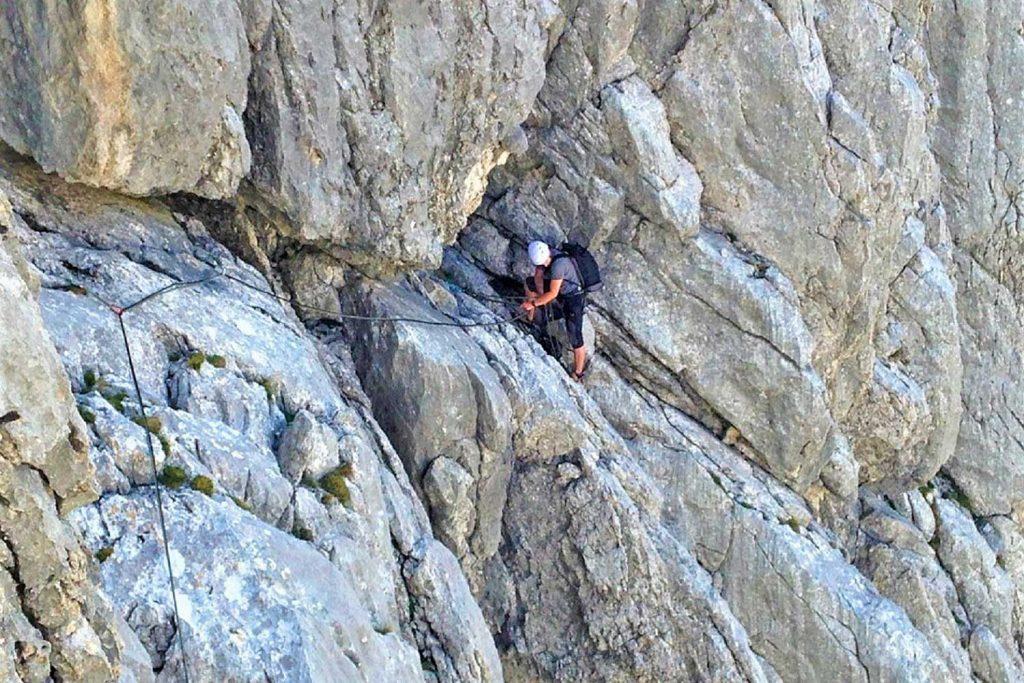 Klettern-im-Wilden-Kaiser---Dülferführe-Predigtstuhl-Westwand-Quergang