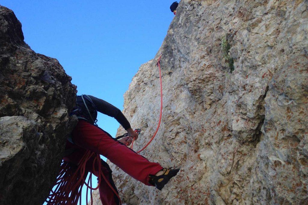 Klettern-in-den-Dolomiten---Dibona-Großer-Falzaregoturm