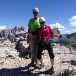 Klettern-in-den-Dolomiten---Torre-Grande-Gipfel
