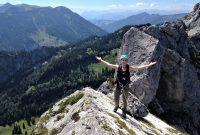 Klettern-mit-Bergstiefel---Kampenwandüberschreitung