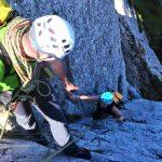Klettern-mit-Bergstiefel---Kampenwand-Gmelchturm