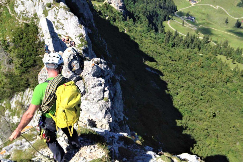 Klettern-mit-Bergstiefel---Kampenwand-Teufelsturm