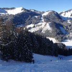 Schneeschuhtour-Jägerkamp---Anstieg-vom-Spitzingsee-mit-Blick-zum-Roßkopf