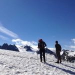 Wandern in der Silvretta - Blick auf die Gletscher und 3000er Berge
