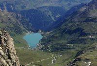 Wandern in der Silvretta - Blick zum Vermuntstausee