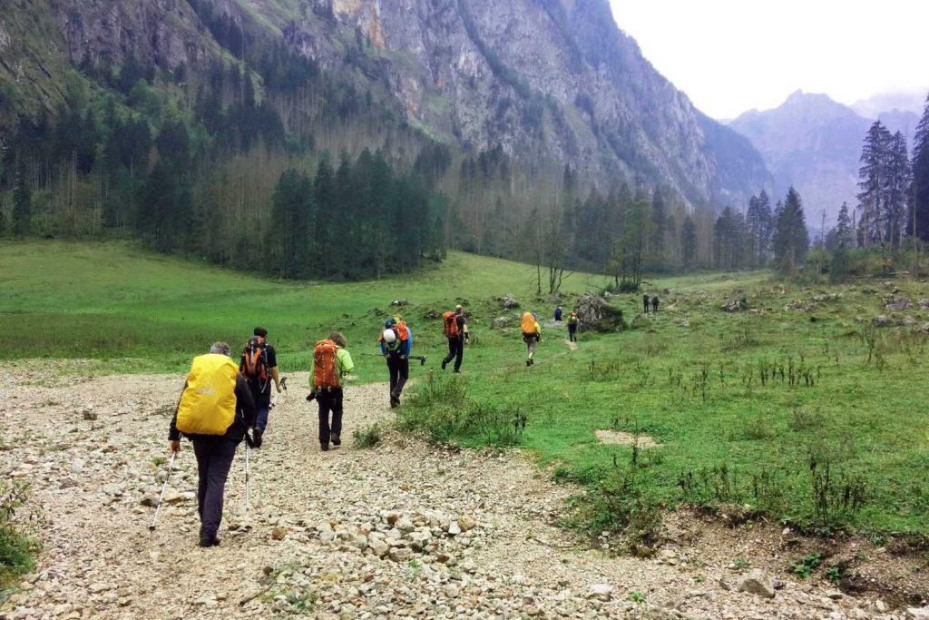 Wanderung-Durchquerung-der-Berchtesgadener-Alpen---Wimbachgries