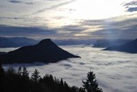 Wanderung Edelraut Runde - Blick auf´s Wolkenmeer