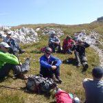 Wanderung Edelraut Runde - Wanderer bei der Pause