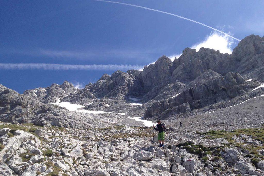 Wanderung - Watzmann König der Berchtesgadener - Abstieg von der Südspitze
