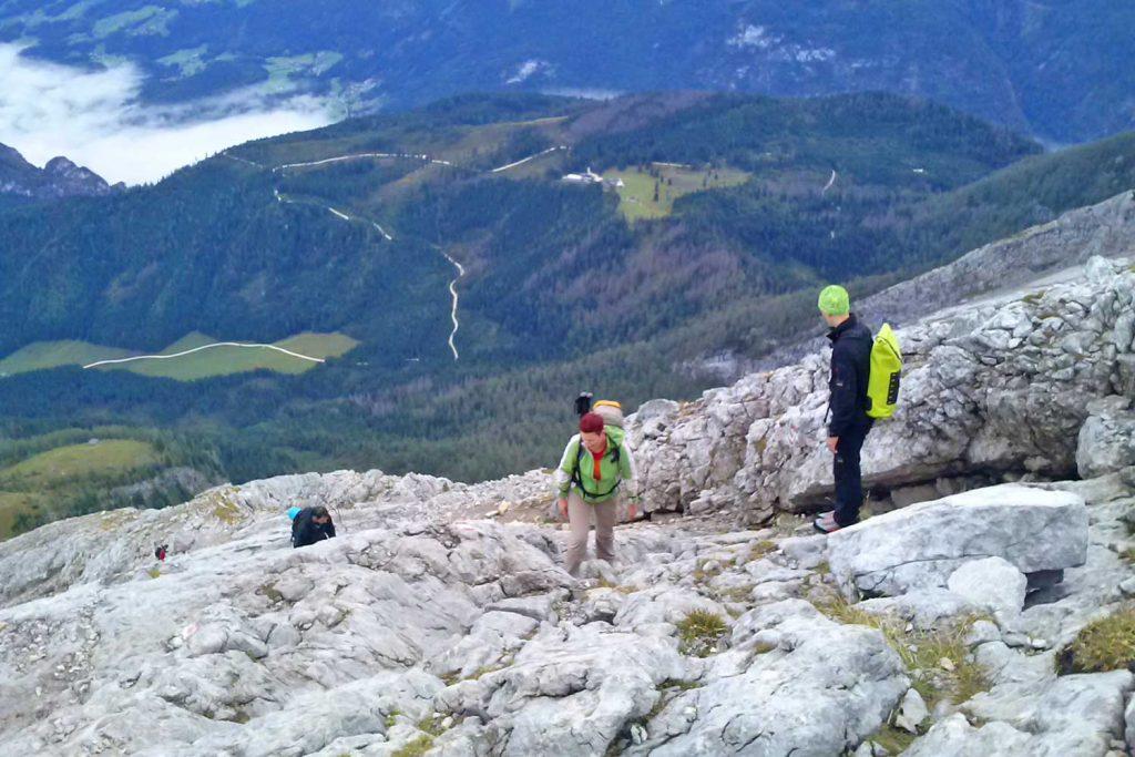 Wanderung - Watzmann König der Berchtesgadener - Anstieg zum Hocheck