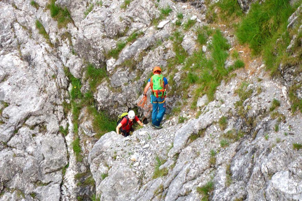 Watzmann-Ostwand---Unterwegs-zur-Wasserfallplatte