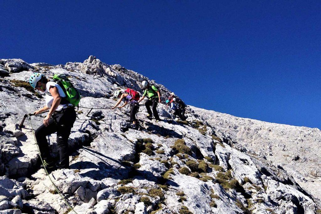 Alpspitz-Klettersteig---Nordwand-Ferrata---Abstieg-Ostschulter