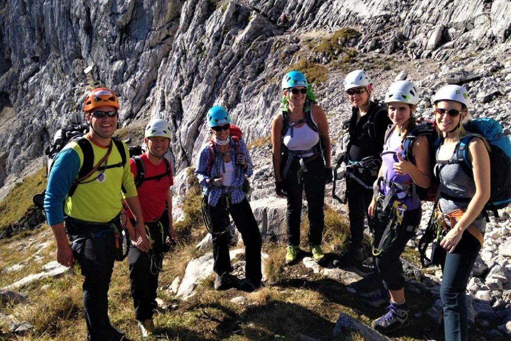 Alpspitz-Klettersteig---Nordwand-Ferrata---Einstieg