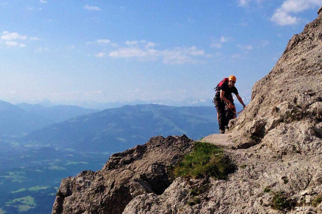 Klettersteige-im-Kaisergebirge---Zahm-und-Wild---Jubiläumssteig