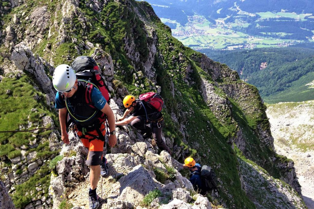 Klettersteige-im-Kaisergebirge---Zahm-und-Wild---Kopftörlscharte