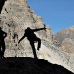 Klettersteige-in-den-Dolomiten-Dolomiti-Speciale-Abstieg-Paternkofel