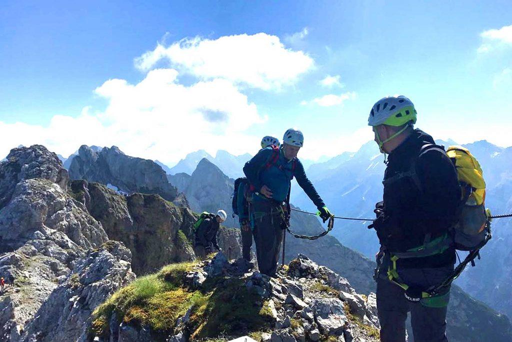 Mittenwalder-Klettersteig---Am-Gratverlauf