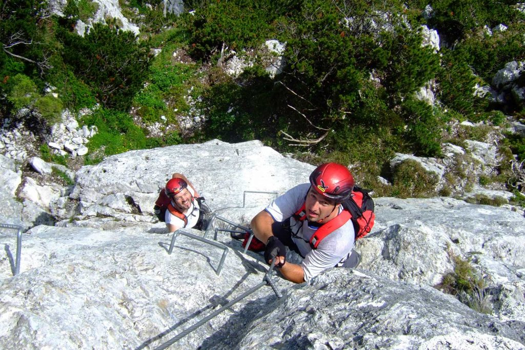 Pidinger-Klettersteig----Gipfelwand