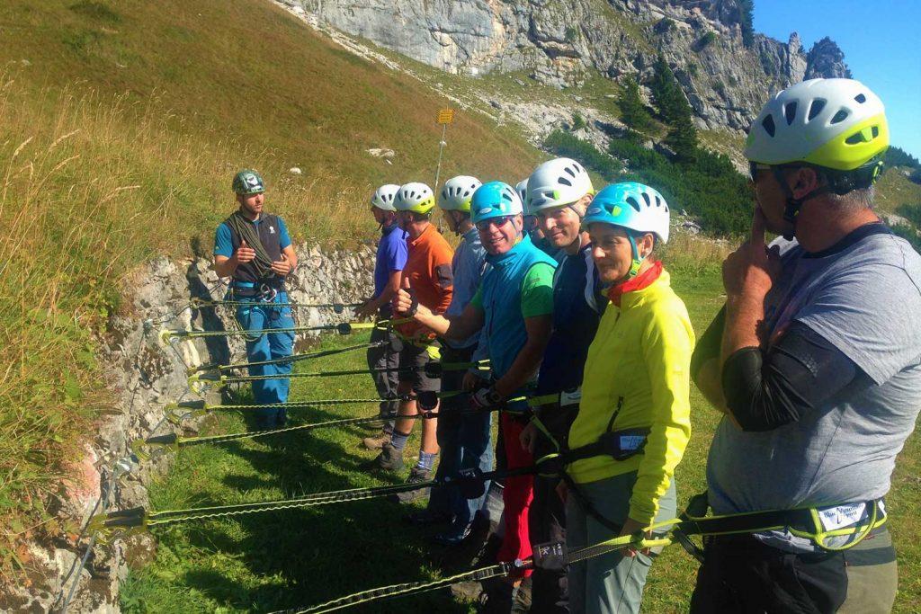 Schnuppertag-Klettersteig---Materialtest