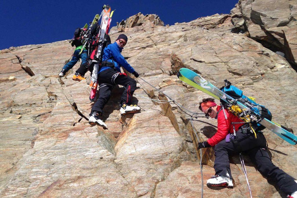 Skidurchquerung-Stubaier-Alpen---Klettersteig-Wildgratscharte