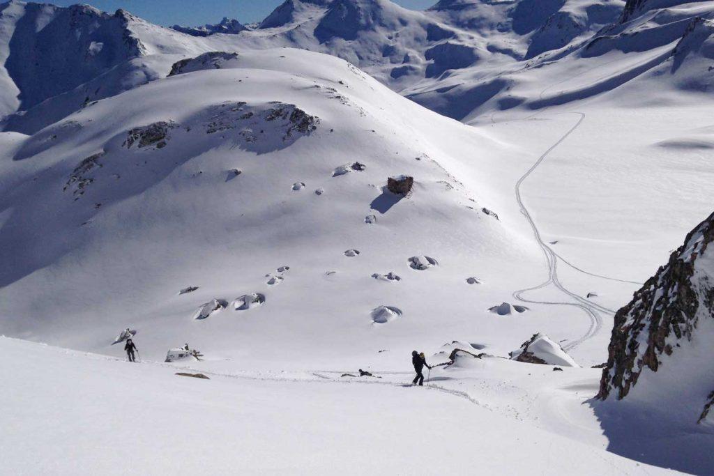 Skitouren-Heidelberger-Hütte---Anstieg-Piz-Davo-Lais