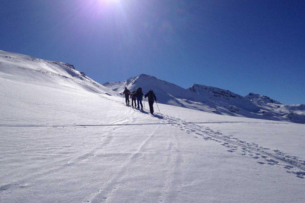 Skitouren-Heidelberger-Hütte---Anstieg-zum-Zahnjoch