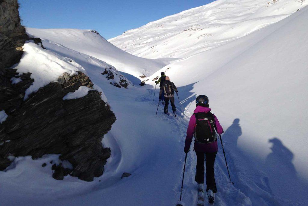 Skitourenkurs-Heidelberger-Hütte---Anstieg-zum-Piz-Davo-Lais