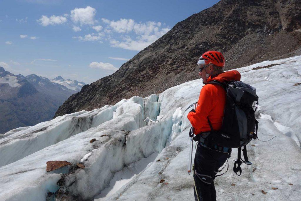 Ötztaler-Wildspitze---Rofenkarferner-mit-Gletscherspalte