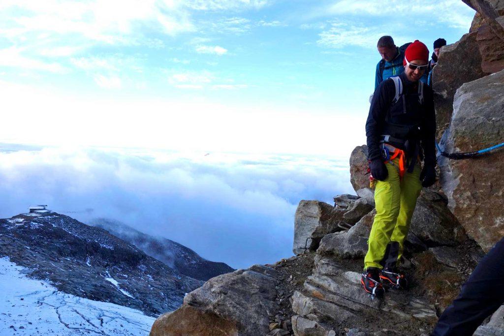 4000er-im-Wallis-Monte-Rosa---Übergang-zum-Indrengletscher